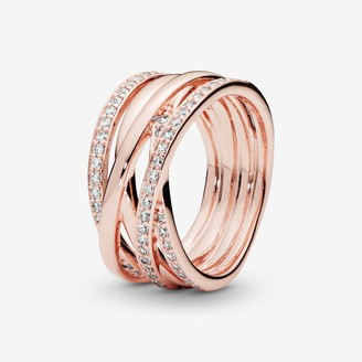 Pandora Sparkling & Polished Lines Ring