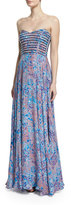 Parker Tamara Strapless Sweetheart Printed Gown