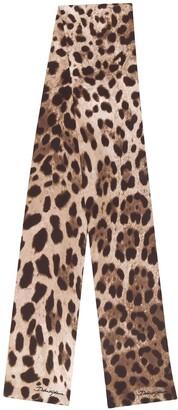 Dolce & Gabbana Leopard Neck Tie