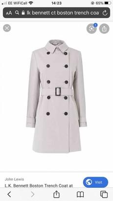 LK Bennett Grey Cotton Trench Coat for Women