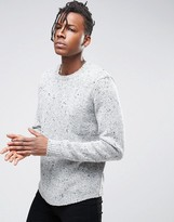 Asos Chunky Knit Sweater With Curved Hem
