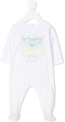 Kenzo Kids Long-Sleeved Tiger Logo Pajamas