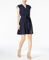 Maison Jules Polka-Dot Wrap Dress, Only at Macy's
