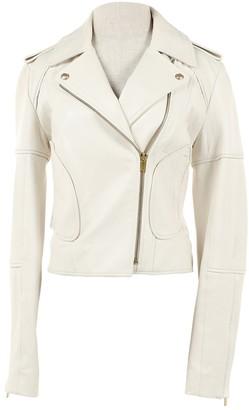 Diane von Furstenberg White Leather Jackets