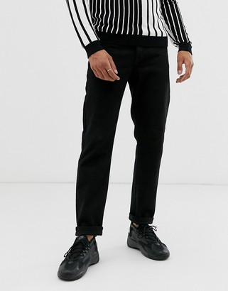 Topman dad fit jeans in black
