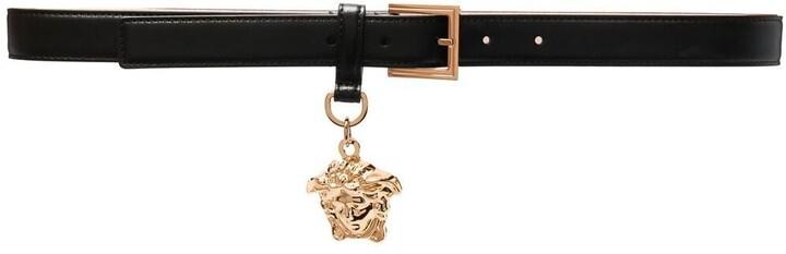 Versace Medusa-plaque leather belt