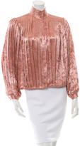 Alice + Olivia Pleated-Accented Floral Blouse w/ Tags