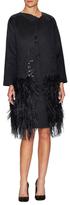 Oscar de la Renta Wool Embellished Coat
