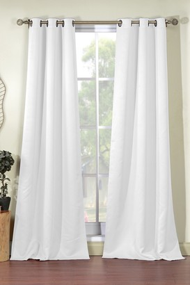 Duck River Textile Steyna Solid Blackout Curtain Set - White