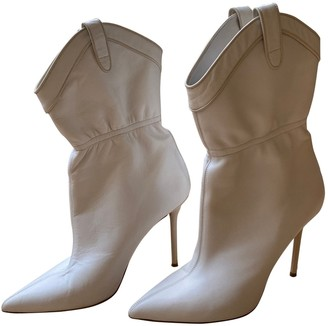 Malone Souliers White Leather Boots