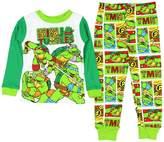 AME Sleepwear Teenage Mutant Ninja Turtles Little Boys Long Sleeve Cotton Pajama Set (T)