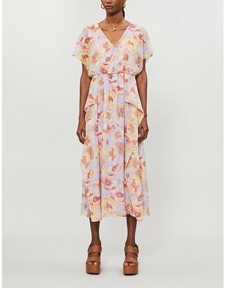 Max Mara Floral-print silk-chiffon midi dress