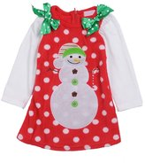 Per Christmas Baby Girls Cute Snowman Costume Long Sleeve Skirt Clothing-,L(3-4years)