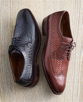 Johnston & Murphy Men's Boydstun Woven Wingtip Lace-Up Oxfords