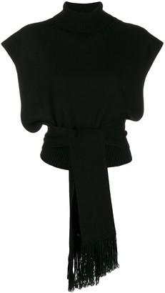 Alanui Short-Sleeve Roll Neck Sweater