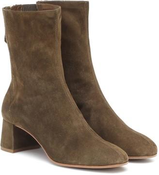 Aquazzura Saint HonorA 50 suede ankle boots