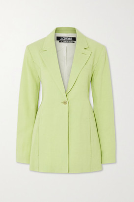 Jacquemus Tablier Hemp-blend Blazer - Light green
