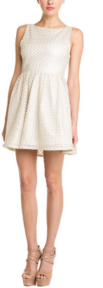 Alice + Olivia Marla Textured Cutout Back Dress