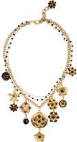 Dolce & Gabbana Gold-tone Swarovski crystal locket necklace
