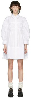 Simone Rocha White Corset Shirt Dress