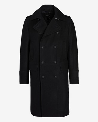 Express Black Water-Resistant Double Breasted Trench Coat