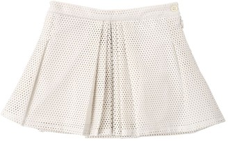 Anne Kurris Perforated Faux Leather Mini Skirt