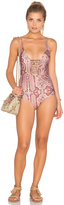 Zimmermann Realm Harness One Piece Swimsuit