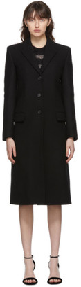 Saint Laurent Black Wool Long Buttoned Coat