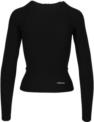 Ambush Zip-Up Back Long-Sleeve Top