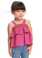 Old Navy Tiered-Ruffle Linen-Blend Top for Toddler