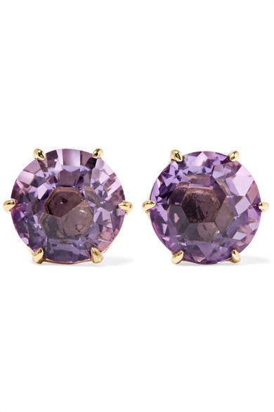 Ippolita Rock Candy 18-karat Gold Amethyst Earrings