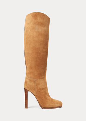 Ralph Lauren Remmy Calf-Suede Boot