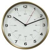 Threshold Wall Clock Warm Brass 10