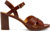 A.P.C. Opéra block-heel leather sandals