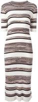 Joseph striped midi dress - women - Cotton/Viscose - M