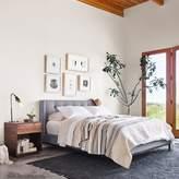 west elm Tufted Upholstered Wingback Bed