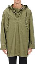 Nlst Men's Cotton V-Neck Hooded Jacket-Dark Green Size L