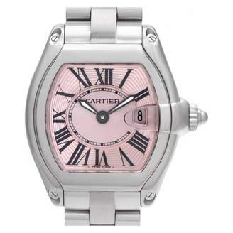 Cartier Roadster Pink Steel Watches