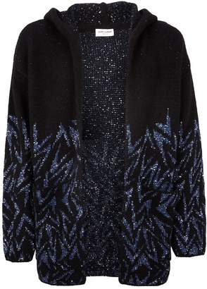 Saint Laurent Sequin Wool Cardigan