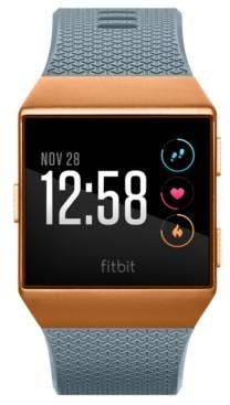 Fitbit Unisex Ionic Slate Blue Elastomer Strap Smart Watch 35x32mm
