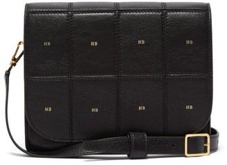 Hillier Bartley Satchel Monogram Leather Shoulder Bag - Black