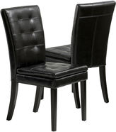 JCPenney Garren Set of 2 Bonded Leather Parsons Dining Chairs