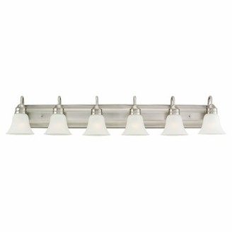 Burkes 6-Light Vanity Light Darby Home Co Finish: Antique Brushed Nickel, Bulb Type: Incandescent A19 100W
