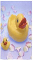 Rubber Duck Towel Cute New Year/Christmas Gift Rubber Ducks Thin Soft Face Towel(One-sided Printing)