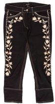 Isabel Marant Embroidered Cropped Jeans