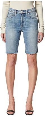 Hudson Freya High-Rise Denim Biker Shorts in Temptation (Temptation) Women's Shorts