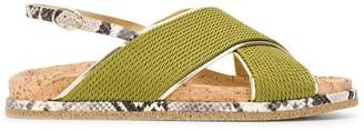 Premiata crossover slingback sandals