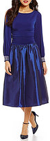 Jessica Howard Beaded-Cuff Long Sleeve Taffeta Party Dress