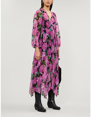 The Kooples Floral-print crepe midi dress