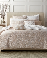 Charter Club CLOSEOUT! Damask Designs Paisley Taupe Twin Duvet Set